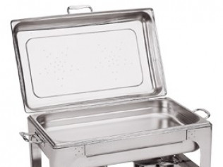 8 qt. Stainless Steel Chafer w/Sterno