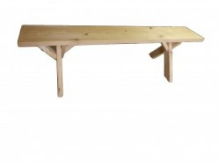 Natural Wood Bench 6'