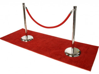 8' Velour Red Rope