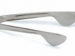 Small Stainless Steel Serving Tongs