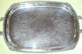 Footed Rectangular Tray
