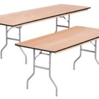 "6' Rectangular Table with 8 Chairs 21"" High"